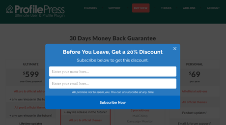 ProfilePress Review 2019: Discount Coupon Code Upto 20% OFF