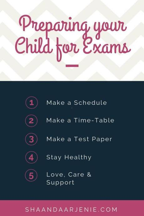 5 Tips For Parents to Help Your Child Prepare for Exams
