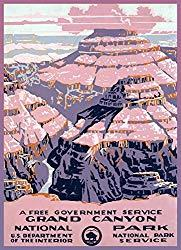 Image: 11x14 inches | Decoration Poster printed on CANVAS.US National Park.Travel.Grand Canyon.1083