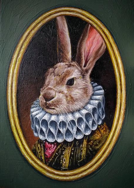 Lord Bunnington - Miniature Oil Painting