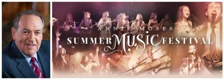 Annie Moses Band Announces Gov. Mike Huckabee as Gala Host for the 16th Annual Annie Moses Summer Music Festival This July