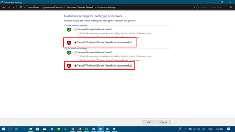 customize windows defender firewall in windows 10