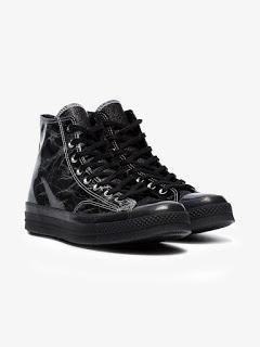 Primed In Black:  Converse Black Chuck Taylor 70 High-Top Sneaker