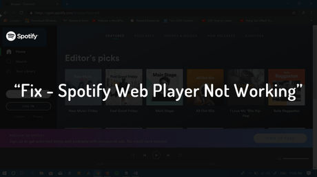 fix spotify web player not working
