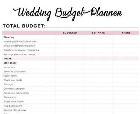 wedding planner book printable book