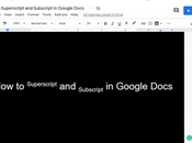 Superscript Subscript Google Docs 2019