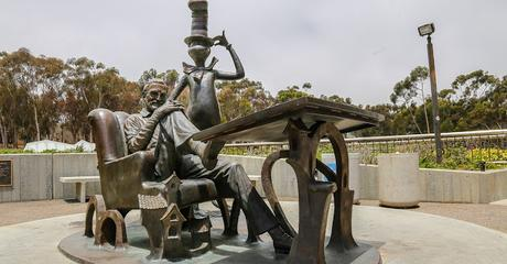 Image: Theodor Geisel Statue at University Of California, San Diego with the Cat in the Hat, by Chance Agrella on FreeRangeStock