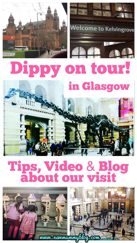 Dippy on tour in Glasgow! Kelvingrove Museum day out #dippyontour + video