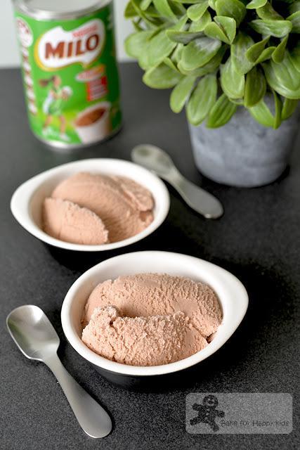 skinny low fat light Milo milk gelato