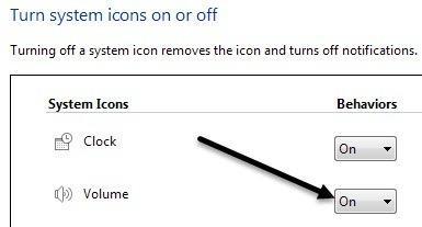 How to show Volume icon on taskbar Windows 7