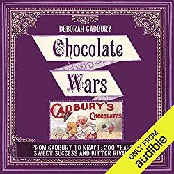 Image: Chocolate Wars: The 150-Year Rivalry Between the World's Greatest Chocolate Makers | Audible Audiobook – Unabridged | by Deborah Cadbury (Author, Narrator), Audible Studios (Publisher). Listening Length: 13 hours and 1 minute