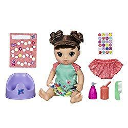 Image: Baby Alive Potty Dance Baby: Talking Baby Doll with Brown Hair, Potty, Rewards Chart, Undies and More, Doll That Pees On Her Potty, For Girls and Boys 3 Years Old and Up