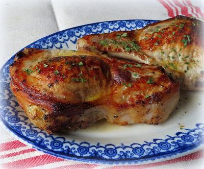 Stuffed Brined Pork Chops