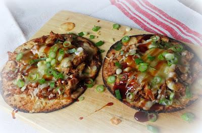Easy BBQ Chicken Tostadas
