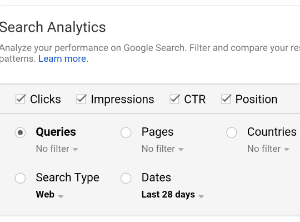 Image:Search Analytics-GSC-Improve Exisiting Pages