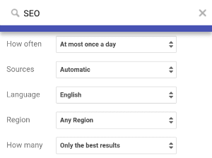 Image: How to set up Google Alerts for your SEO