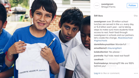 Sweetgreen's initiative to provide fresh food in schools