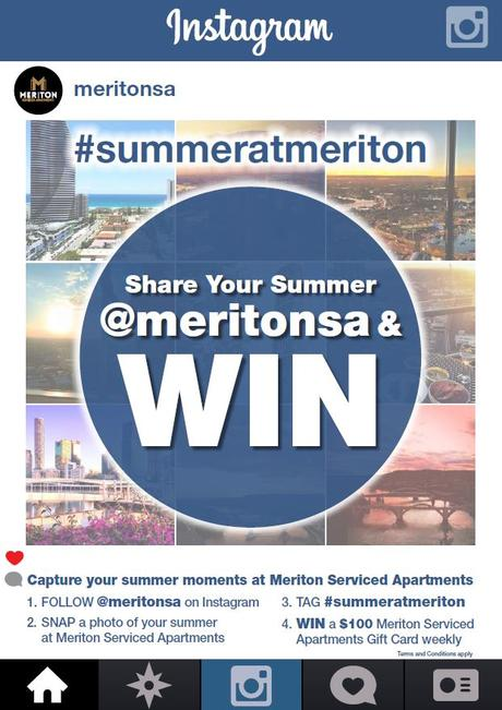 Example of an Instagram contest