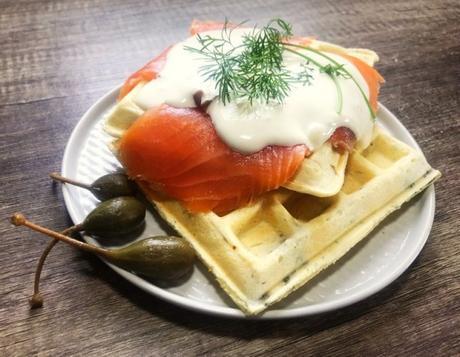 Recipe: Smoked Salmon and Waffles