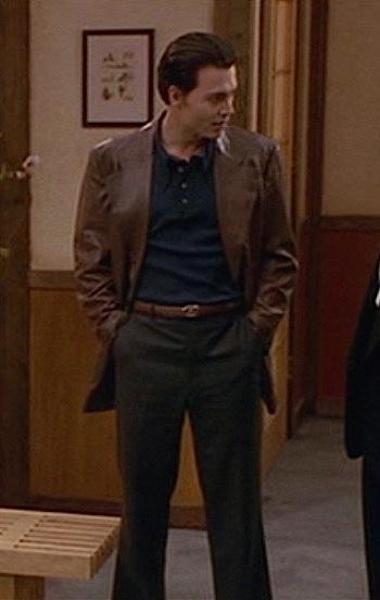 4ca52ee6535 Donnie Brasco s Brown Leather Blazer - Paperblog