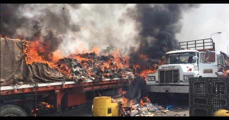 Guaido Supporters Burned Aid Trucks, Not Maduro Troops