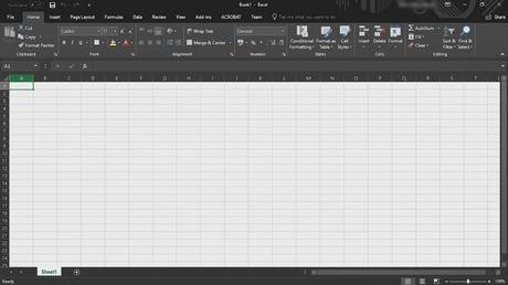 Microsoft Office Excel Dark mode