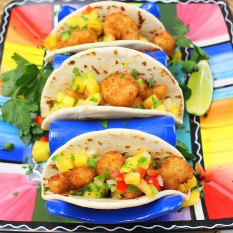 Crispy Shrimp Street Tacos #FishFridayFoodies
