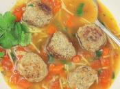 Meatball Noodle Soup (Sopa Albondigas Fideo) #SoupSwappers