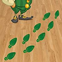 Image: St. Patrick's Day Decorations, Leprechaun Footprint Floor Clings Stickers Removable Shamrock Foot Stickers for Window Walls Saint Patty's Day Party Favors Supplies Decoration, 36 Pairs