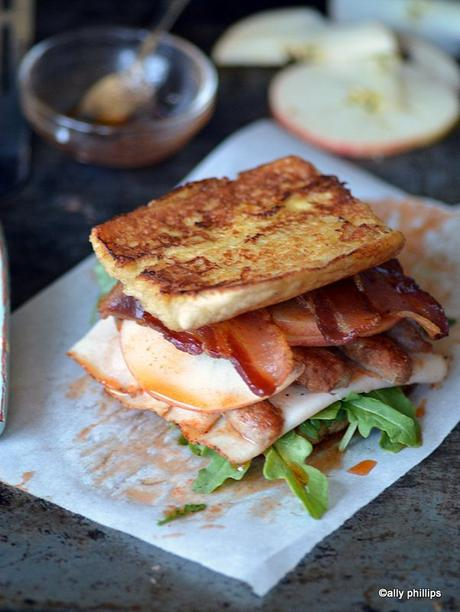 french madame turkey sandwich