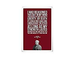 Image: Harriet Tubman Art Print. 60 Colours/5 Sizes. Slavery Poster. Historical Quote. American History. Abolition