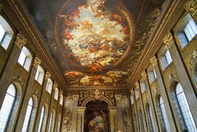 Painted Hall: revealing the ceiling