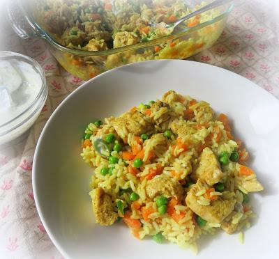 Curried Chicken & Coconut Rice Casserole