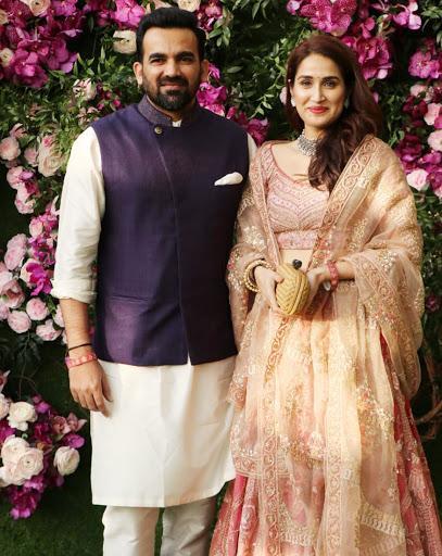 Zaheer Khan and his wife, Bollywood actress Sagarika Ghatge