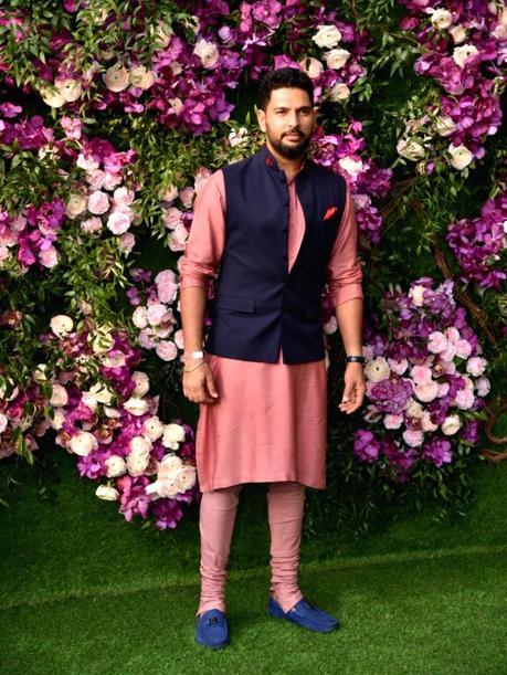 Yuvraj Singh at the wedding