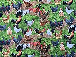 Image: Chicken Rooster Poultry Farm Barnyard Fowl Biddy Chick Hen Rural Domesticated Birds Cock-A-Doodle-Do Country Handcrafted Curtain Valance