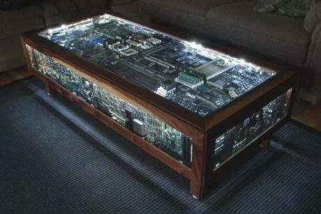 A Coffee Table Made From Recycled Computer Parts