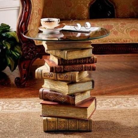 A Coffee Table Made From Recycled Books