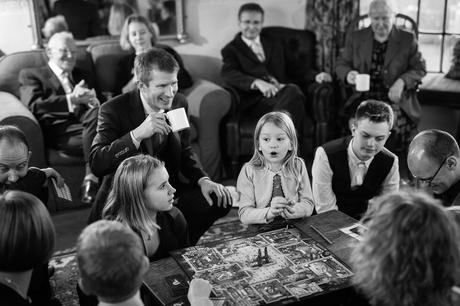 playing cluedo with the wedding guests