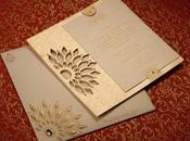 Stylish Indian Wedding Card with Silk Handmade Paper