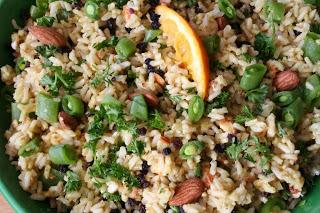 Curried Rice With Orange Salad (Dairy, Gluten and Oil Free)