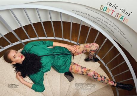 Don't Stair with Nadine Ammeraal for ELLE by Benjamin Kanarek