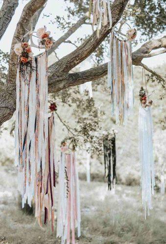 wedding hanging installations ribbin on tree cluneyphoto