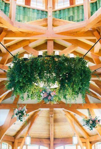wedding hanging installations greenery decor whimhospitality