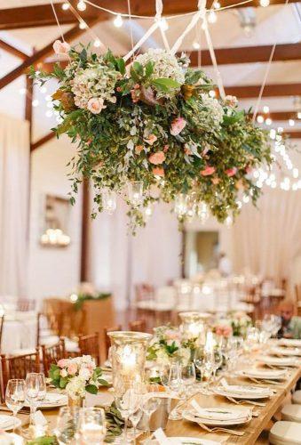 wedding hanging installations hanging wedding flowers Rachel May Photography