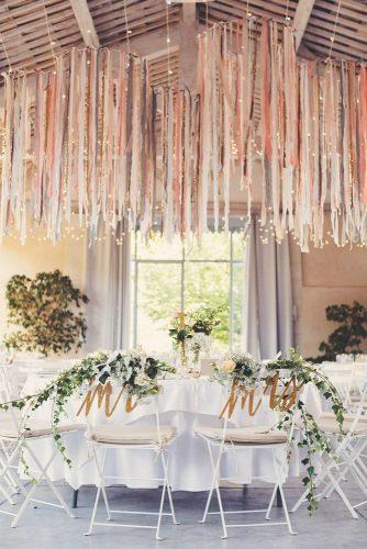 wedding hanging installations hanging ribbon WeddingTrousseau