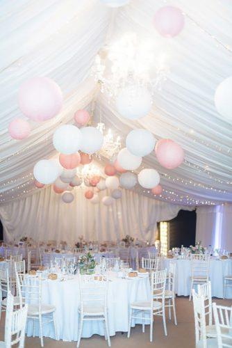 wedding hanging installations tender paper decor James and Lianne Photography