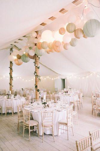 wedding hanging installations light paper lanterns marshallphotography