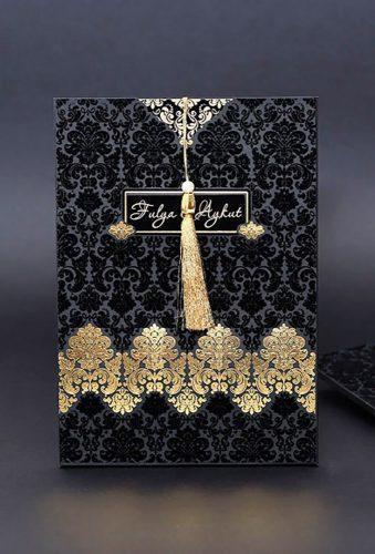 velvet wedding decor black invitations MGinvitationAndGifts