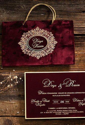 velvet wedding decor velvet invitations Ecedesignstudio